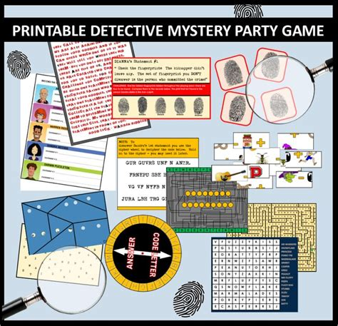 printable detective games 17 best images about spy party secret agent party on