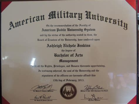 Graduate With Honors Apus Mba by Ashleigh Jenkins Received Bachelor Of Arts In
