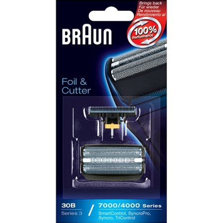 30b Braun Foil Cutter by Braun Series 3 Combi 30b Foil And Cutter Replacement Pack