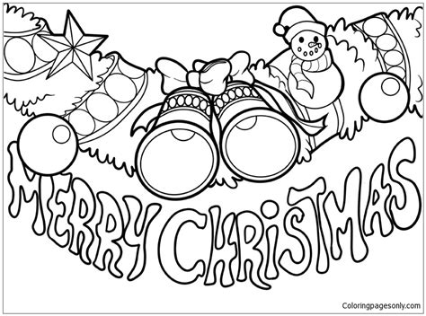 100 Download Coloring Pages Merry Christmas Merry Text Coloring Pages