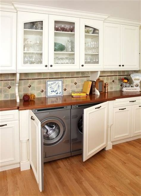 Washer Dryer In Kitchen | washer and dryer hidden in kitchen dreamhouse pinterest