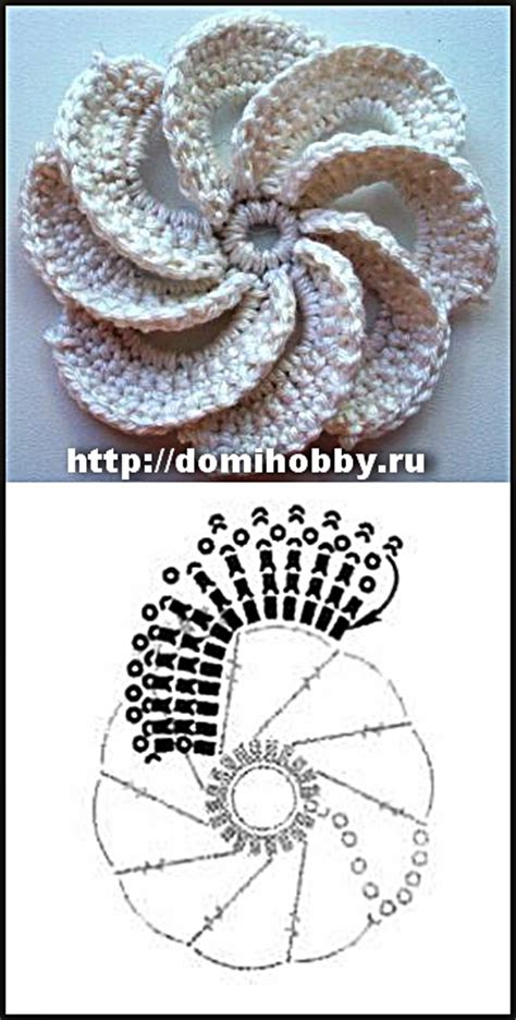 fiori a uncinetto con spiegazioni uncinetto fiori a girandola con schema creazioni c