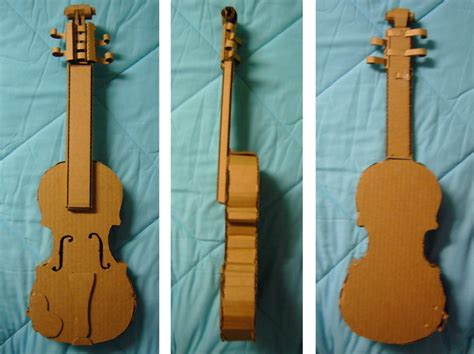 How To Make A Paper Guitar That Works - cardboard violin by emilywalus on deviantart