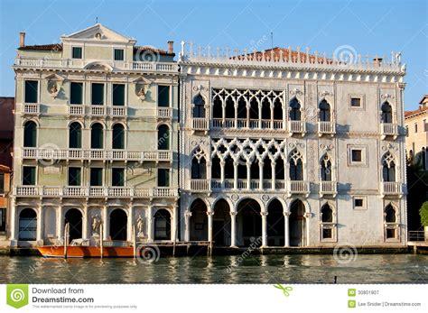 Gothic House Plans Venice Italy Palazzo Ca D Oro Royalty Free Stock