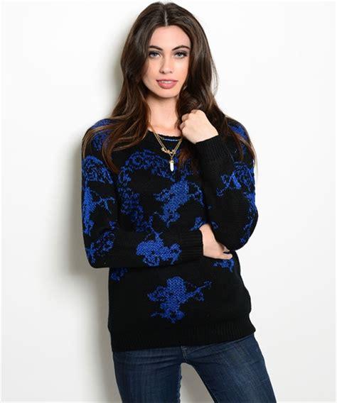 Sweater Black Blue blue black sweater