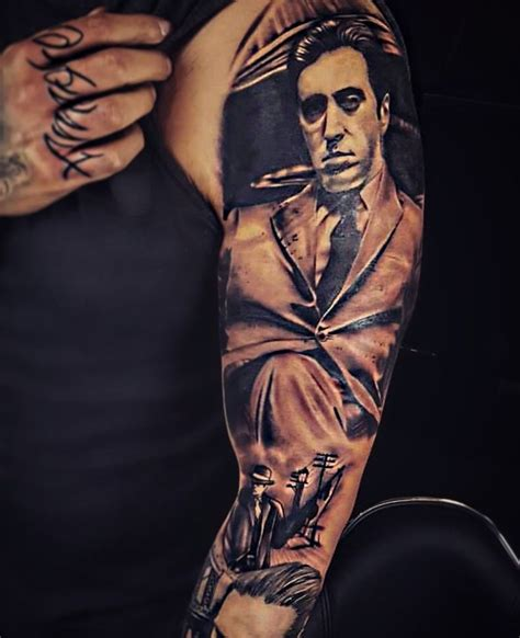 godfather tattoo designs godfather gangster sleeve tats