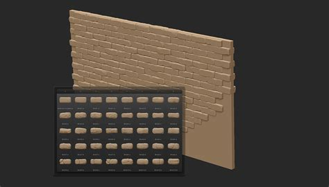 zbrush brick tutorial crafting environments in zbrush by tom nemeth page 1