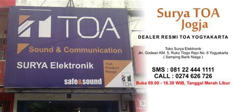 Mixer Murah Jogja distributor dealer resmi speaker toa jual horn masjid