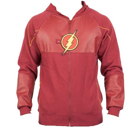 Dc Jacket Bb Hodie flash suit up fleece hoodie official dc comics superheroes hoody ebay