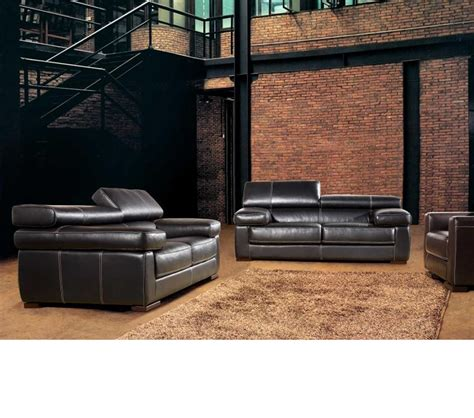 divani leather sofa dreamfurniture com divani casa 381 modern italian