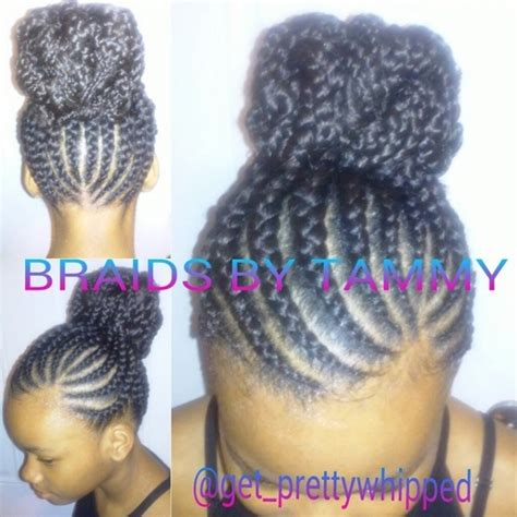 large cornrow bun styles cornrow braided bun hairstyles braids that is simple one