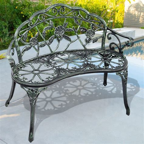 wrought iron patio bench beauteous cheap outdoor benches features elaborate wrought iron patio bench and lovely