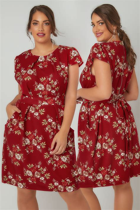 Vanilla Visa Gift Card Refund - blue vanilla curve red floral print shift dress with pockets plus size 16 to 28