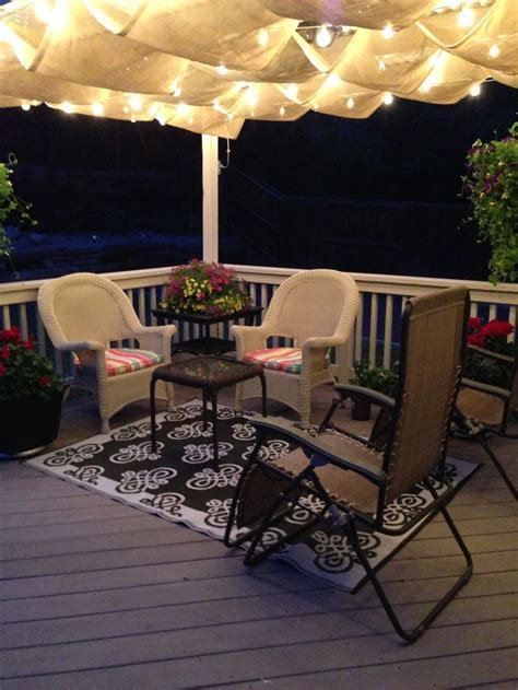 deck ideas hang patio lights from roof the deck