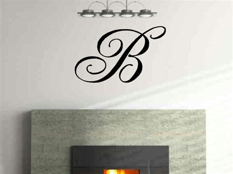 letter wall stickers monogram single letter vinyl wall decal by vgwalldecals on etsy