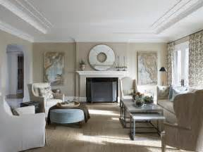 traditional living room with neutral palette hgtv