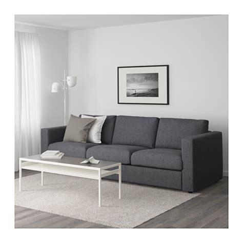sofas that can be assembled vimle 3 seat sofa gunnared medium grey ikea