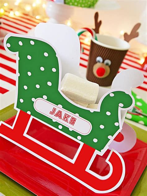 make personalized cards make personalized sleigh place cards hgtv