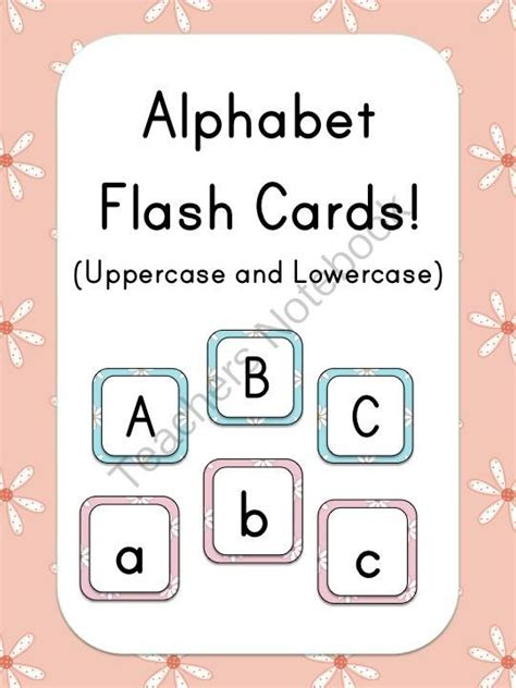 printable alphabet flash cards from homemade by jill alphabet flash cards flower theme from miss jill on