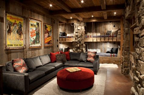 rustic family room family room rustic family room other metro by
