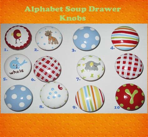 Alphabet Drawer Knobs by Alphabet Soup Painted Decorative Drawer Knobs Pulls