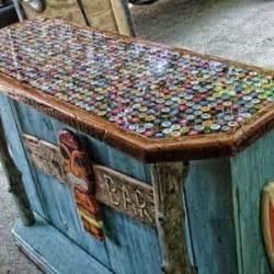 bottle cap bar counter top diy crafts