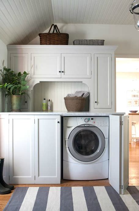Laundry Room Cabinet Design Washer And Dryer Cottage Laundry Room Design