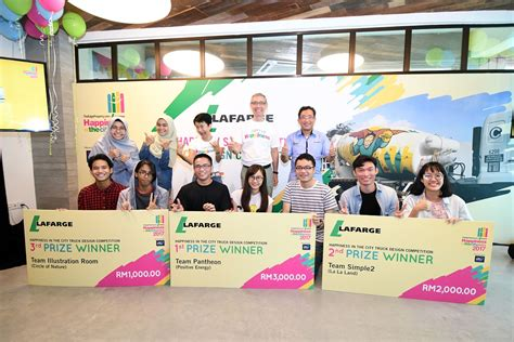 design competition malaysia 2017 team pantheon wins lafarge happiness in the city truck