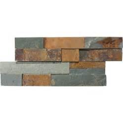 Stone Backsplash Lowes - shop anatolia tile oxide ledgestone slate wall tile common 6 in x 12 in actual 5 9 in x 11