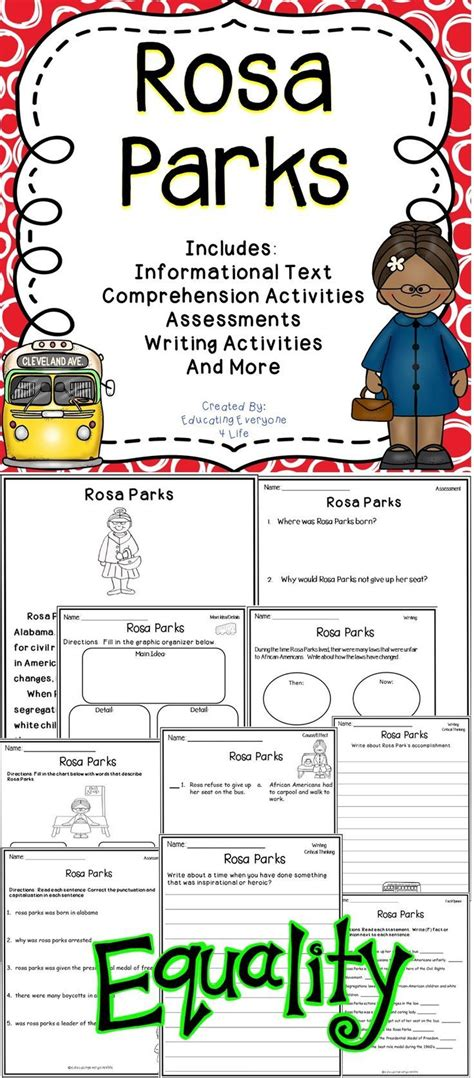rosa parks biography lesson plan 4102 best lower elementary other images on pinterest
