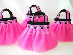 Bag Favors by Set Of 4 Minnie Mouse Themed Favor Tutu Bags