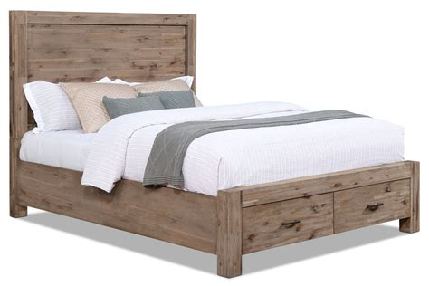 beds beds beds acadia queen storage bed the brick
