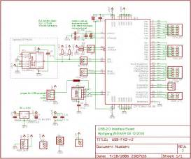 schematic wiring diagram usb fx2 usb 2 0 interface board circuit schematic