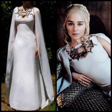 Gamis Harra Dress Ori Rins of thrones costume daenerys meereen dress white