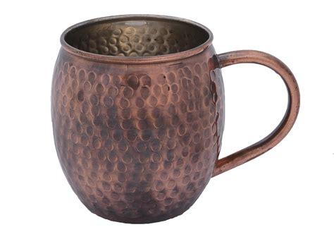 Antique Hammered Barrel Shape Moscow Mule Mug · Copper ...