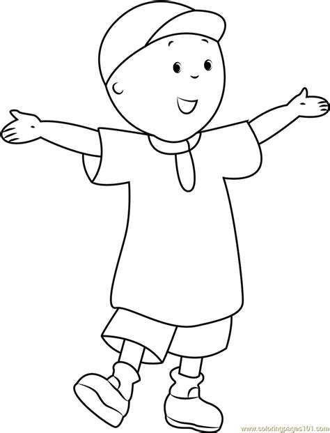 caillou coloring pages pdf caillou welcoming you coloring page free caillou