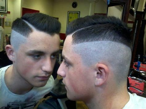 Barber mens hair funky undercut with shaved parting barber cuts by paulmacspecial pinterest