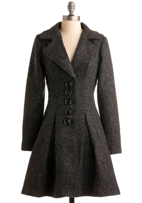 Modcloth Cqs New Vintage Obsession by Urbane Existence Trench Vintage Inspired Sleeve And
