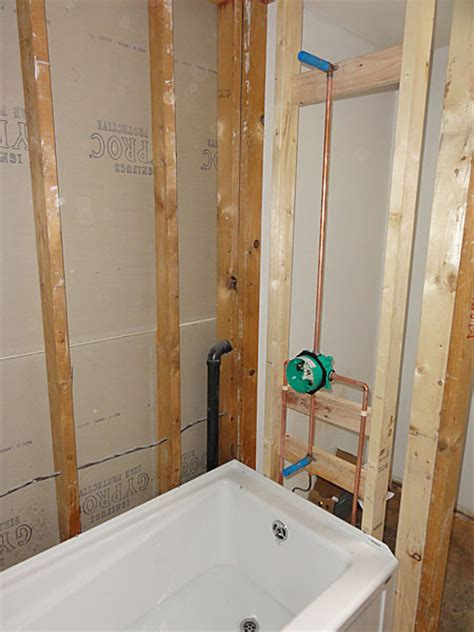 diy bathtub installation acrylic tub installation with hansgrohe tub shower valve terry love plumbing