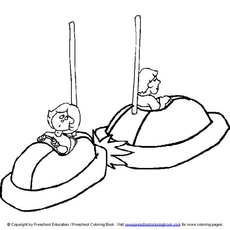 bumper cars coloring pages www preschoolcoloringbook amusement park coloring page