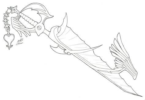 keyblade coloring pages way to the dawn line art by yueasazuki on deviantart