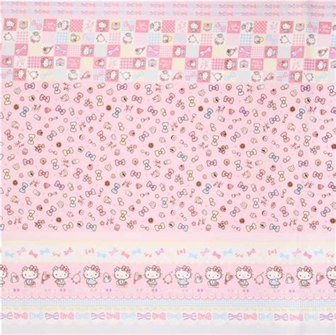 Seprai Hello Pink 3 pink hello stripes ribbon jewelry oxford fabric by sanrio from japan hello fabric