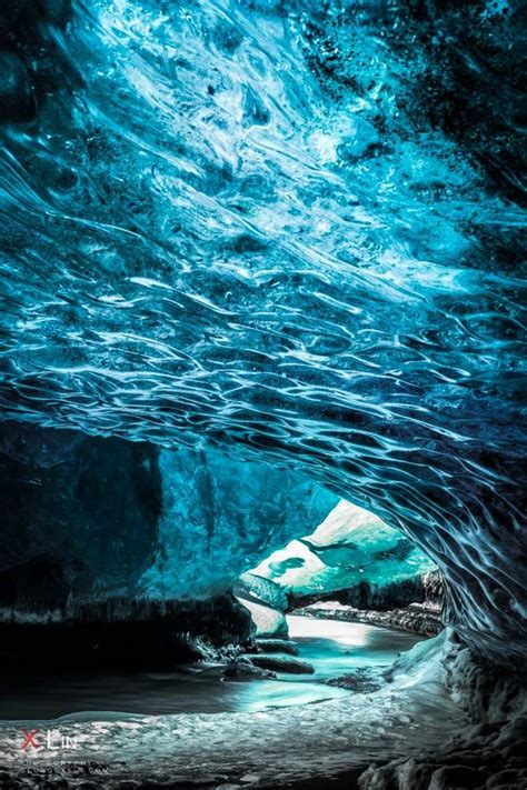 crystal cave iceland river exit crystal caves of iceland my turquoise