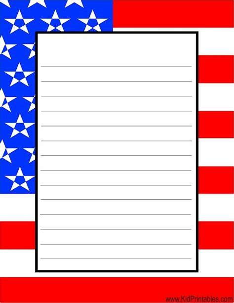Printable Flag Stationery | kid printables printable flag stationery