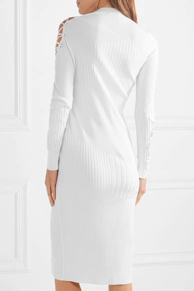 Panel Mock Neck Knit Dress cushnie et ochs gabriela mock neck lace up dress with