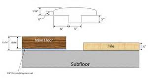 how do i install transition molding between my new hardwood and existing tile floors home
