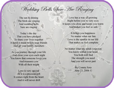 Wedding Bell Poem by Wedding Bells Sure Are Ringing