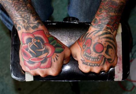 tattoo hand fire 40 awesome hand tattoos