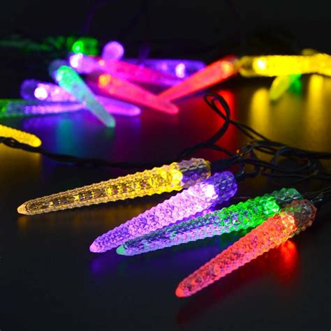 solar icicle lights popular solar powered icicle lights buy cheap solar