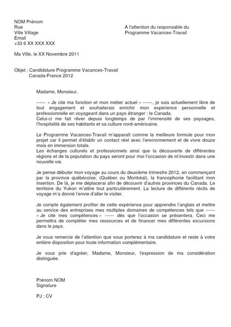 Lettre De Présentation Canada Exemple Covering Letter Exle January 2016